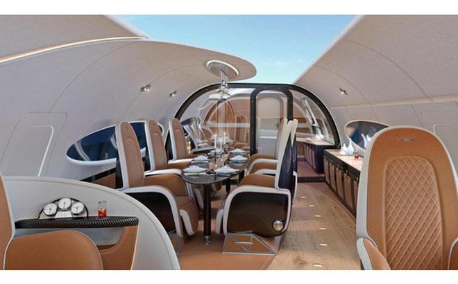 """Thiết kế mới của Airbus gây sửng sốt vì trần máy bay """"trong suốt"""", giúp hành khách nhìn ngắm bầu trời"""