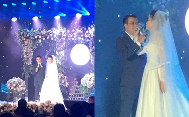 Những hình ảnh hiếm hoi về đám cưới ấm cúng của BTV Quang Minh và vợ trẻ