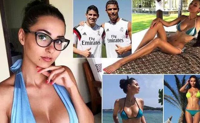 """Ronaldo """"mai mối"""" cho James Rodriguez và người mẫu Nga nóng bỏng"""