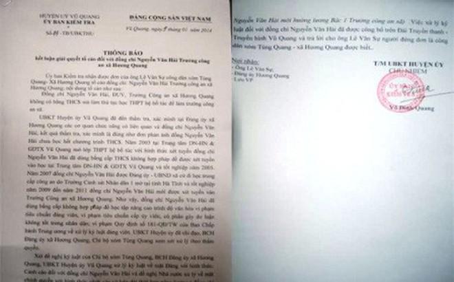 Hà Tĩnh: Trưởng Công an xã sử dụng bằng giả nhưng chưa bị xử lý