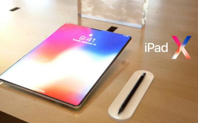 iPad 2018 sẽ trở nên hấp dẫn hơn nhờ trang bị công nghệ Face ID và thiết kế lấy cảm hứng từ iPhone X