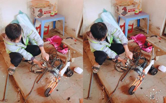 """Bé nào cũng thích đồ chơi, nhưng mấy ai có bố khéo tay như """"nhà sáng chế"""" thế này, làm xe tự lái tặng con gái mới chịu"""