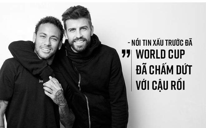 """Neymar: """"Chỉ dịch đi 2 cm nữa, là tôi đã phải ngồi xe lăn cả đời"""""""