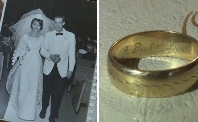 """Đánh rơi nhẫn cưới từ rất nhiều năm trước, cặp vợ chồng không ngờ nó lại """"xa tít chân trời mà gần ngay trước mặt"""""""