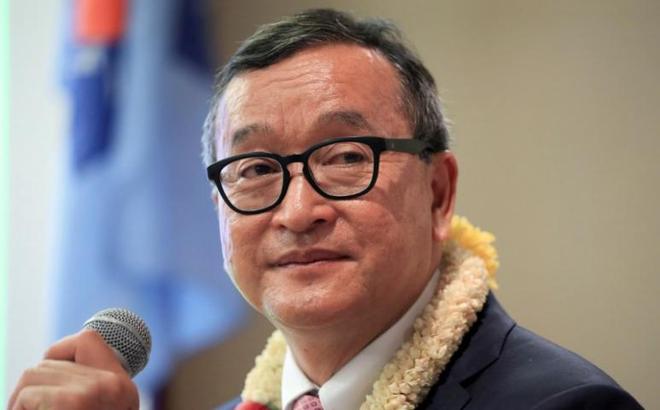 Tòa án Campuchia phạt cựu thủ lĩnh đối lập Sam Rainsy về tội phỉ báng Thủ tướng Hun Sen