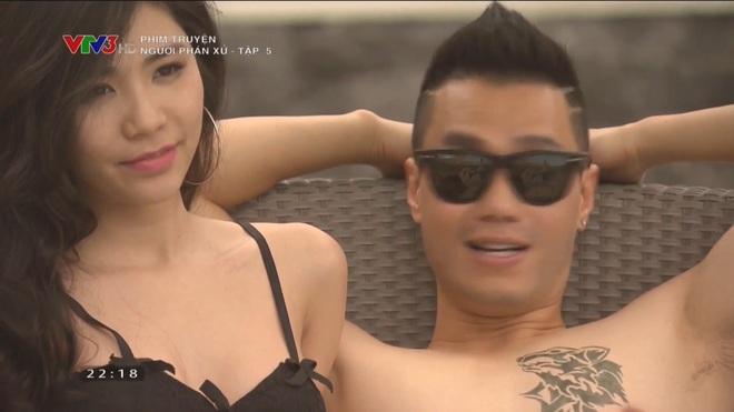 Bạn gái Phan Hải gây tranh cãi khi toàn mặc hở hang trong phim Người phán xử - Ảnh 7.