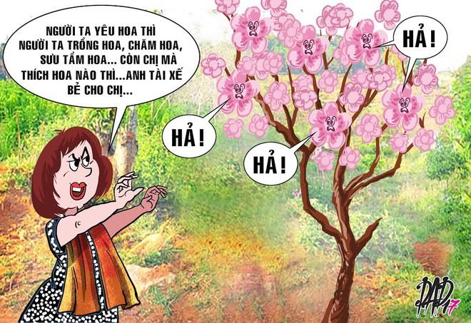 HÍ HỌA trong tuần: Chị Phó Giám đốc, chị thích hoa nào thì anh tài xế bẻ cho - Ảnh 3.