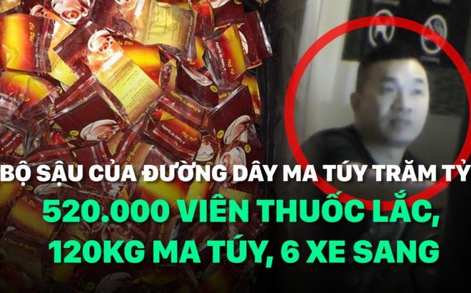 [Mutex] Bộ sậu đường dây ma túy trăm tỷ: 520.000 viên thuốc lắc, 120kg ma túy, xe sang...
