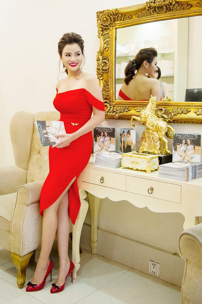 Hoa hậu Mỹ Linh sang Campuchia để ủng hộ Vũ Thu Phương - Ảnh 1.
