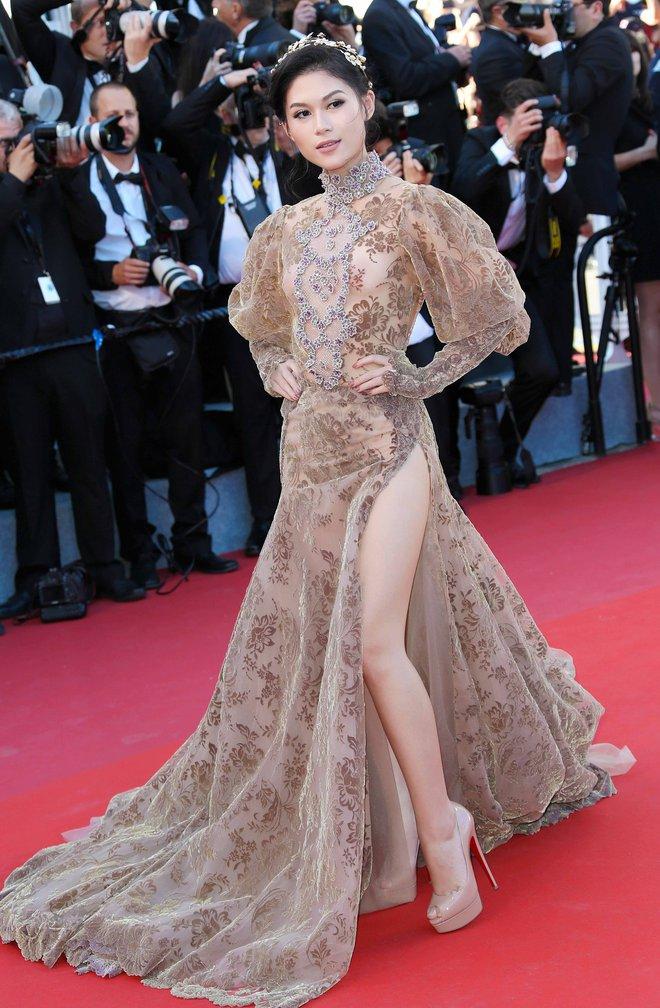 Ngọc Thanh Tâm mặc gợi cảm, đọ sắc cùng dàn sao Hollywood tại Cannes 2017 - Ảnh 4.