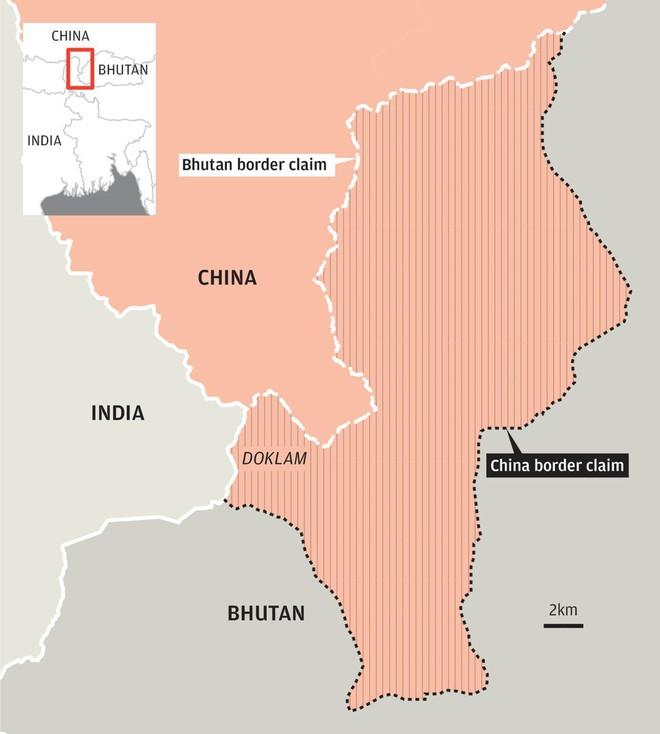 Trung Quốc xây đồn bốt cách hào Ấn Độ chưa đầy 10m: Doklam sắp xung đột lớn? - Ảnh 2.