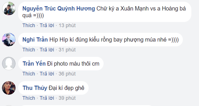 Loạt chữ ký của U23 Việt Nam khiến dân mạng bàn tán sôi nổi - Ảnh 2.
