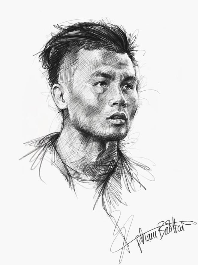 Trọn bộ tranh ký họa dàn cầu thủ cực phẩm U23 Việt Nam - Ảnh 11.