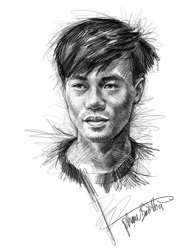 Trọn bộ tranh ký họa dàn cầu thủ cực phẩm U23 Việt Nam - Ảnh 12.