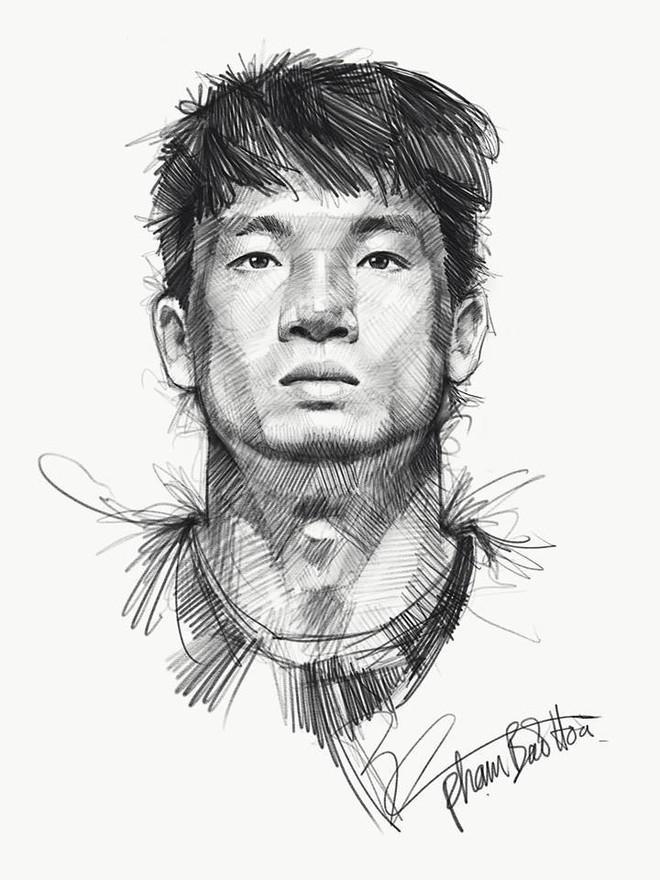 Trọn bộ tranh ký họa dàn cầu thủ cực phẩm U23 Việt Nam - Ảnh 13.