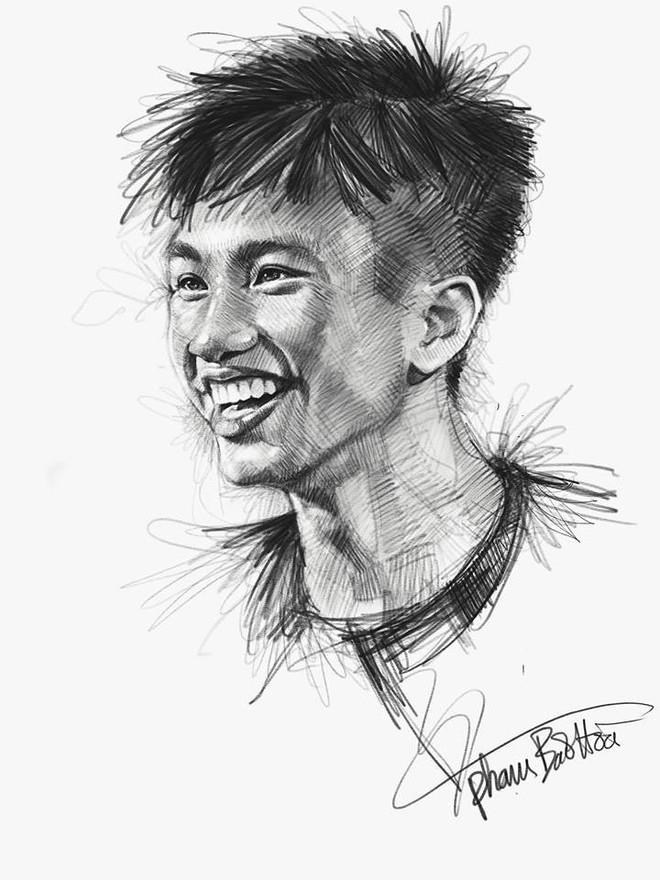 Trọn bộ tranh ký họa dàn cầu thủ cực phẩm U23 Việt Nam - Ảnh 14.