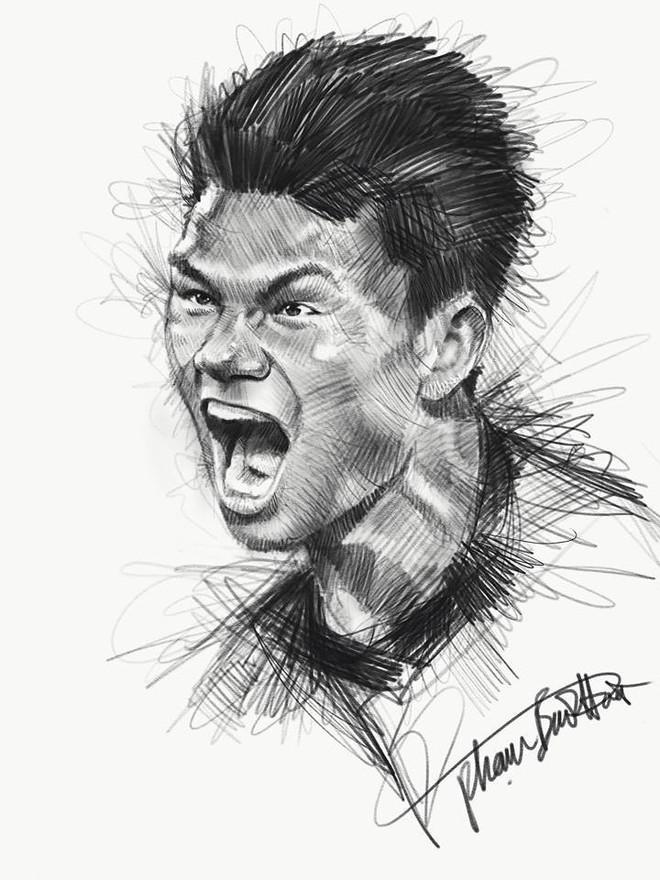 Trọn bộ tranh ký họa dàn cầu thủ cực phẩm U23 Việt Nam - Ảnh 16.