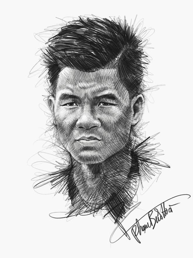 Trọn bộ tranh ký họa dàn cầu thủ cực phẩm U23 Việt Nam - Ảnh 5.