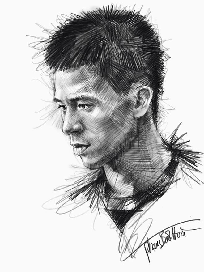 Trọn bộ tranh ký họa dàn cầu thủ cực phẩm U23 Việt Nam - Ảnh 8.