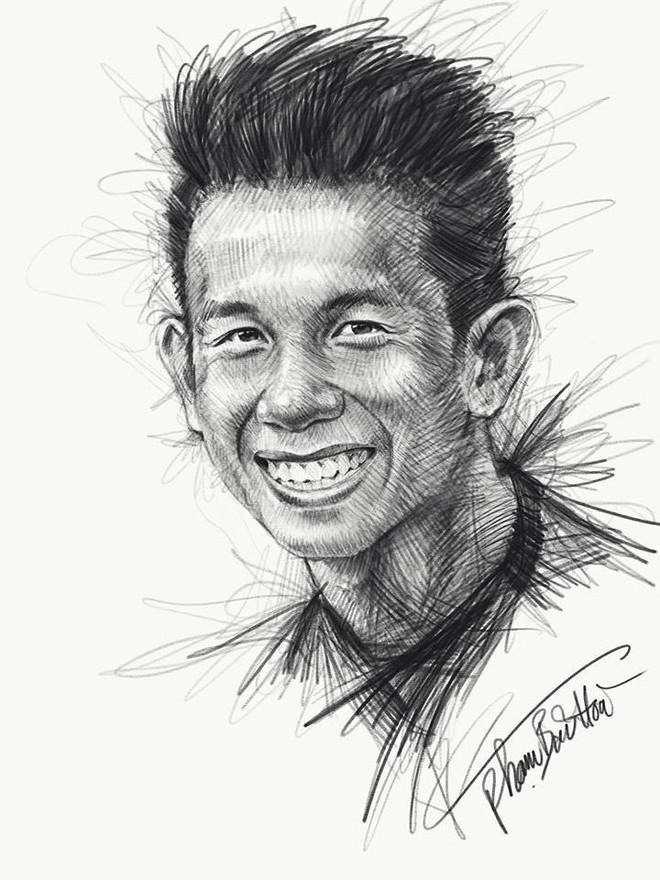 Trọn bộ tranh ký họa dàn cầu thủ cực phẩm U23 Việt Nam - Ảnh 10.
