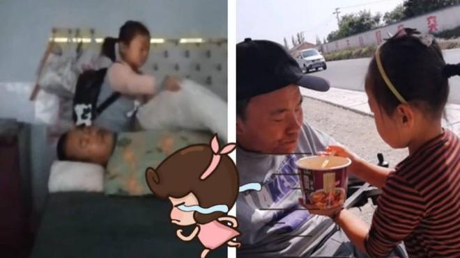 Bé gái 6 tuổi tự kiếm tiền chăm sóc cha tàn tật suốt nhiều năm - Ảnh 2.