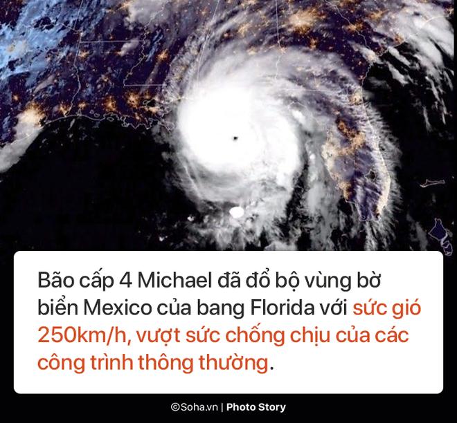Sức mạnh kinh hoàng của bão Michael và những cảnh không tưởng tượng nổi trên đất liền Mỹ - Ảnh 1.