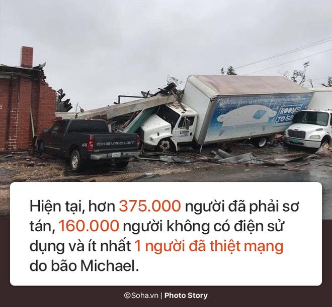 Sức mạnh kinh hoàng của bão Michael và những cảnh không tưởng tượng nổi trên đất liền Mỹ - Ảnh 10.
