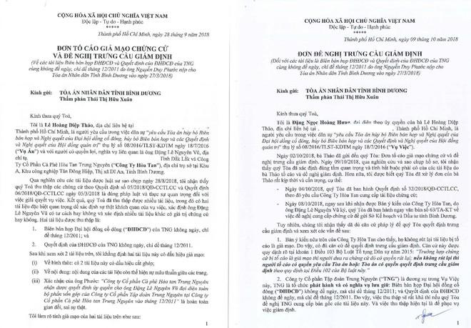 Bà Lê Hoàng Diệp Thảo bất ngờ tố cáo phía Trung Nguyên cung cấp tài liệu giả mạo - Ảnh 1.