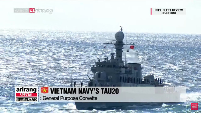 Tư lệnh HQVN và Tổng thống Hàn Quốc tại Lễ duyệt binh tàu chiến quốc tế: VN có tàu mới - Ảnh 1.