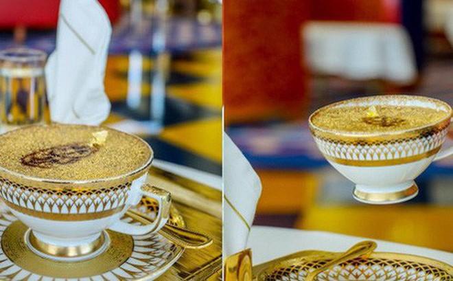 Uống cà phê phủ vàng tại khách sạn xa xỉ bậc nhất thế giới tại Dubai