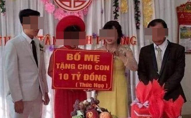 Cô dâu, chú rể Bình Phước được cha mẹ trao quà cưới 10 tỷ đồng: Đã nhận toàn bộ số tiền