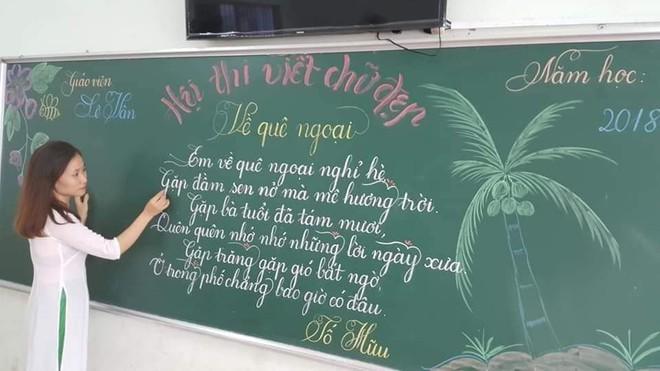 Khi giáo viên tiểu học đi thi viết chữ đẹp: Không máy in hay font chữ xịn sò nào có thể sánh ngang với bàn tay cô giáo! - Ảnh 3.