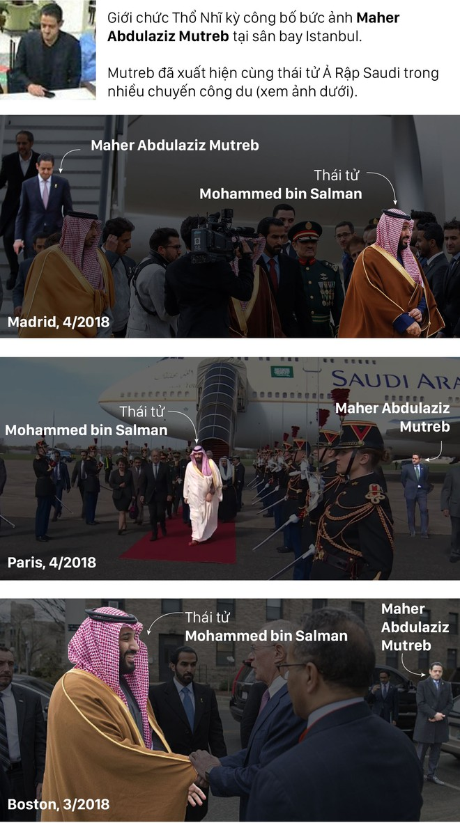 Nghi phạm vụ hành quyết nhà báo: Thân tín của thái tử Saudi lộ hành tung đáng ngờ - Ảnh 2.