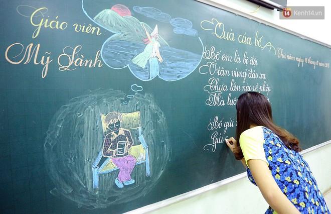 Gặp 18 cô giáo Quảng Trị viết chữ đẹp như vẽ tranh vừa gây sốt MXH: Học sinh trong trường chữ cũng siêu đẹp - Ảnh 2.