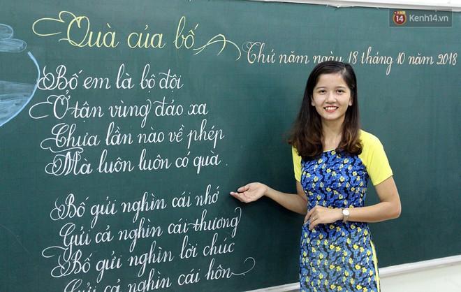 Gặp 18 cô giáo Quảng Trị viết chữ đẹp như vẽ tranh vừa gây sốt MXH: Học sinh trong trường chữ cũng siêu đẹp - Ảnh 5.