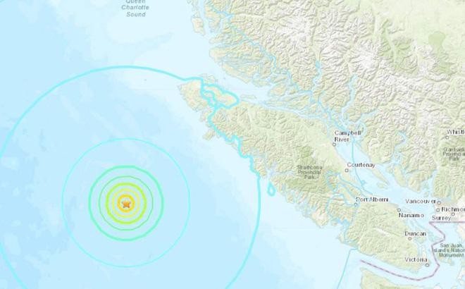 Động đất mạnh rung chuyển cực Tây Canada