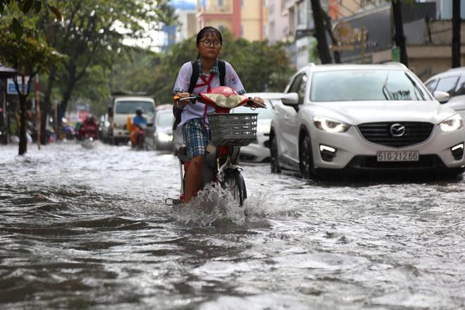 Khu nhà giàu ở Sài Gòn ngập sau mưa lớn, quận 9 xuất hiện mưa đá - Ảnh 9.