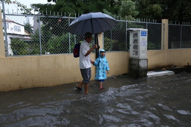 Khu nhà giàu ở Sài Gòn ngập sau mưa lớn, quận 9 xuất hiện mưa đá - Ảnh 10.