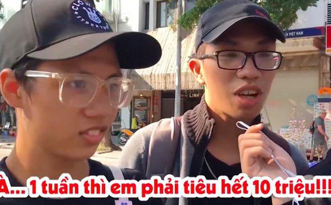 Phỏng vấn dạo: 19 tuổi tiết lộ tiêu 10 triệu/tuần để mua giày, quần áo và đi uống trà sữa