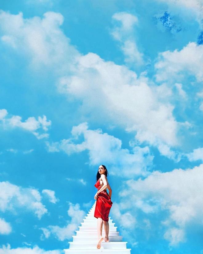 Nấc thang lên thiên đường: Điểm check-in mới toanh đánh lừa thị giác người nhìn ở Đà Lạt - Ảnh 1.