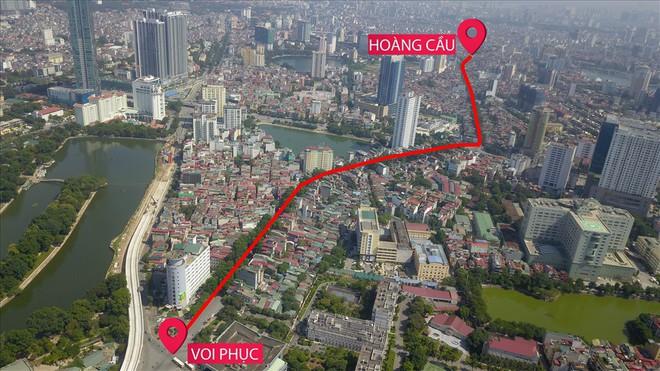 Toàn cảnh tuyến đường 2,2km đắt nhất hành tinh ở Thủ đô - Ảnh 1.
