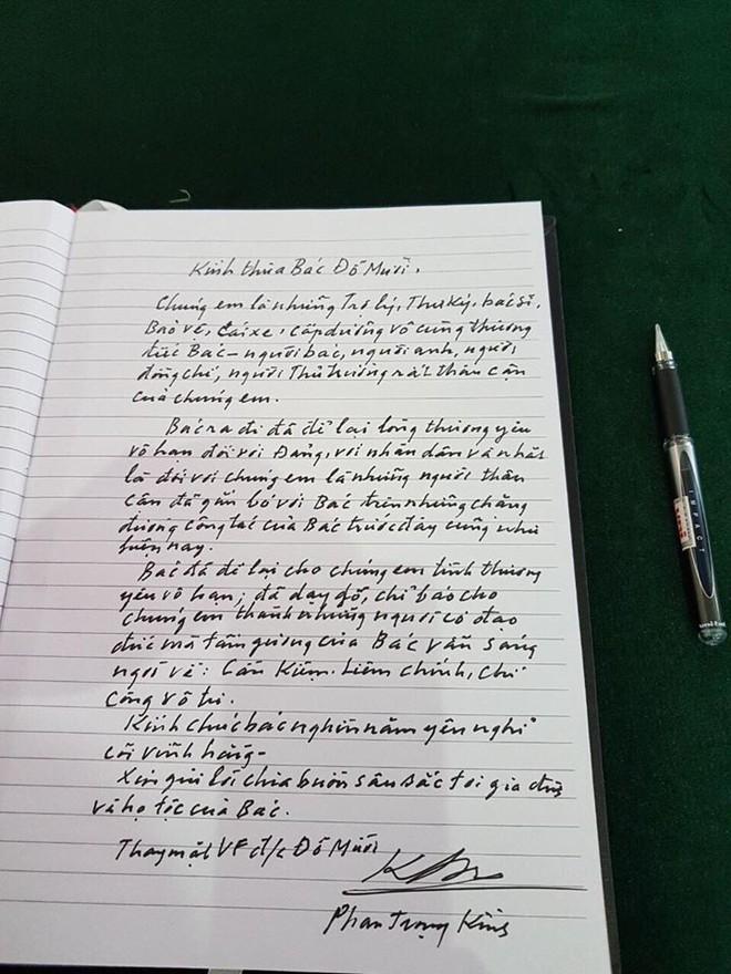 Lời từ biệt xúc động trong sổ tang cố Tổng Bí thư Đỗ Mười - Ảnh 11.