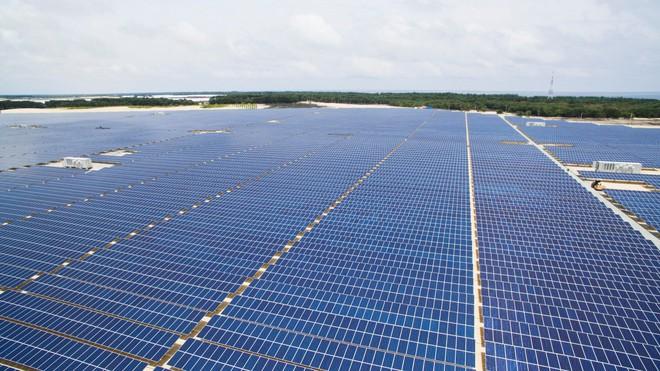 Lễ khánh thành nhà máy điện mặt trời 35 MW Thứ nhất ở Việt Nam - Ảnh 1.