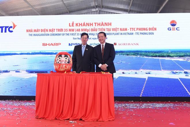 Lễ khánh thành nhà máy điện mặt trời 35 MW Thứ nhất ở Việt Nam - Ảnh 3.