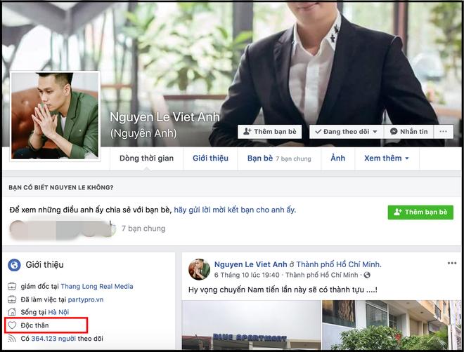 """Vợ chồng diễn viên Việt Anh bất ngờ để trạng thái """"độc thân"""", nghi vấn nảy sinh mâu thuẫn? - Ảnh 1."""