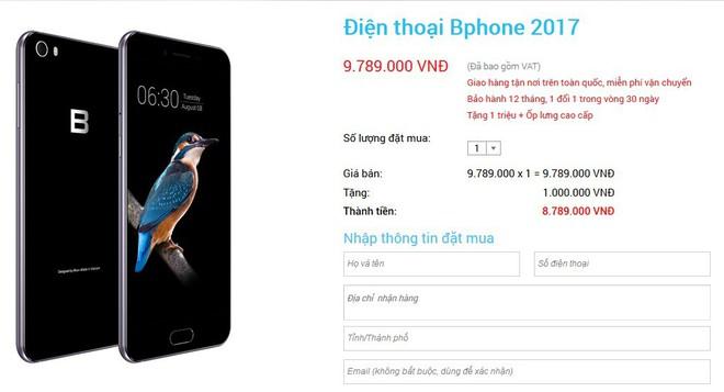 Trước giờ ra mắt sản phẩm mới, Bphone 2017 được Bkav bán giá nào? - Ảnh 1.