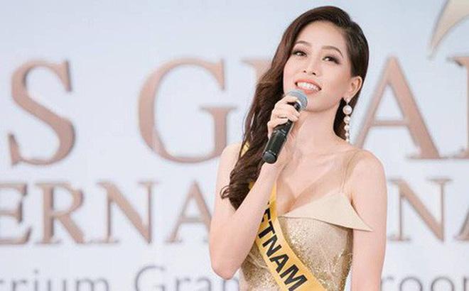 """Clip: Phương Nga tự tin khoe giọng hát với ca khúc """"Hello Vietnam"""" trên sân khấu của Miss Grand International 2018"""