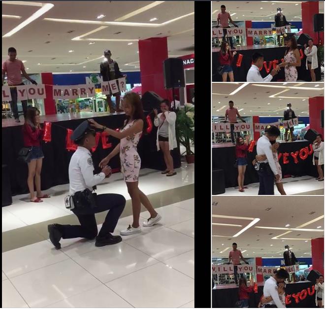 Cô gái quỳ gối cầu hôn bạn trai tại trung tâm thương mại và cái kết bất ngờ - Ảnh 2.