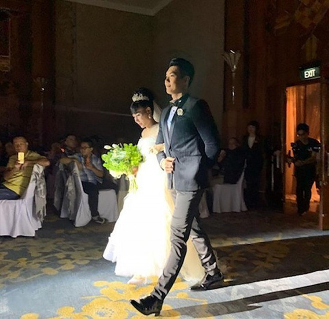 Hình ảnh hiếm hoi trong đám cưới Trương Nam Thành và bạn gái doanh nhân lớn tuổi - Ảnh 1.