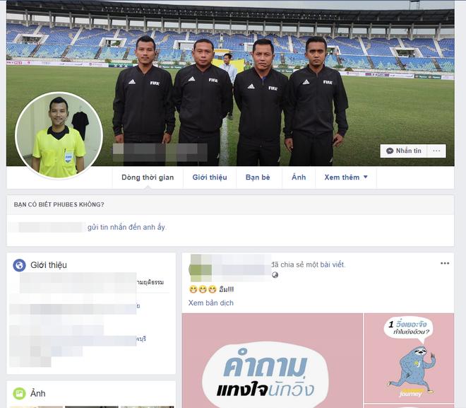 Tìm ra facebook được cho là của trọng tài biên trận Việt Nam - Myanmar, CDM lao vào làm điều xấu xí - Ảnh 1.